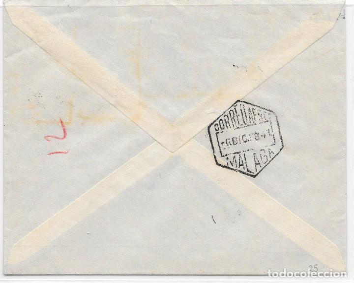 Stamps: CORREO AEREO. CERTIFICADO CIRCULADO DE LARACHE A VELEZ MALAGA. 1938 - Foto 2 - 160504430