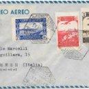 Sellos: CORREO AEREO. SOBRE CIRCULADO DE ALCAZARQUIVIR A FIRENZE - ITALIA. 1947. Lote 160505046