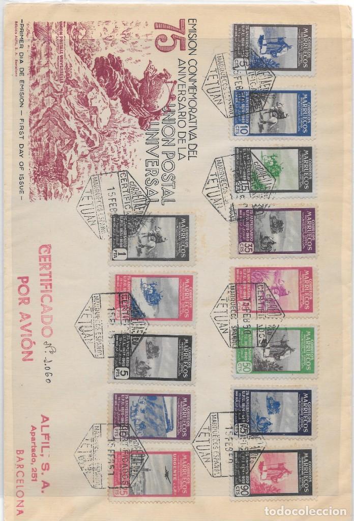 CORREO AEREO. CERTIFICADO CIRCULADO DESDE TETUAN A BARCELONA. 1950 (Sellos - España - Colonias Españolas y Dependencias - África - Marruecos)