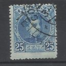 Sellos: ALFONSO XIII MARRUECOS 1908 EDIFIL 28 USADO VALOR 2019 CATALOGO 66.- EUROS VER FOTO. Lote 160606414