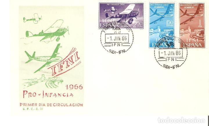 IFNI PRO INFANCIA PRIMER DÍA CIRCULACIÓN 1966 CATALOGO EDIFIL Nº 218/220 (Sellos - España - Colonias Españolas y Dependencias - África - Ifni)