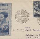 Sellos: GUINEA -V CENT ISABEL CATÓLICA 1951 ED 305 - SOBRE /SPD PRIMER DIA CIRCULADO S.F.C. Lote 161006642