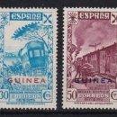 Sellos: GUINEA 1943 BENEFICENCIA. HISTORIA DEL CORREO SERIE COMPLETA NUEVA SIN FIJASELLOS EDIFIL Nº 12/17. Lote 161280834
