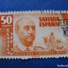 Sellos: SAHARA, 1951 VISITA DEL GRAL. FRANCO,EDIFIL 88. Lote 161354990