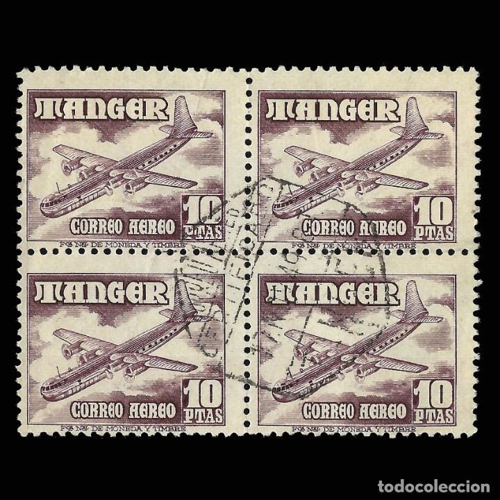 TANGER.1948. AVIONES.10P.BLQ 4.USADO.EDIFIL.171. (Sellos - España - Colonias Españolas y Dependencias - África - Tanger)