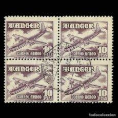 Sellos: TANGER. 1948. AVIONES.10P. BLOQUE 4. MATASELLO. EDIFIL Nº171.. Lote 162132502