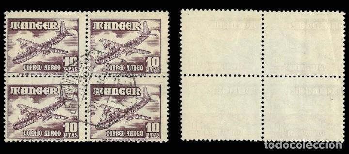 Sellos: TANGER.1948. Aviones.10p.Blq 4.Usado.Edifil.171. - Foto 2 - 162132502