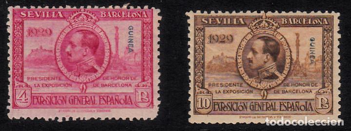 GUINEA 1929 NUMS 200 Y 201 NUEVOS CON GOMA Y SIN SEÑAL DE FIJASELLOS -EL NUM 200 PEQUEÑA SEÑAL-VER (Sellos - España - Colonias Españolas y Dependencias - África - Guinea)