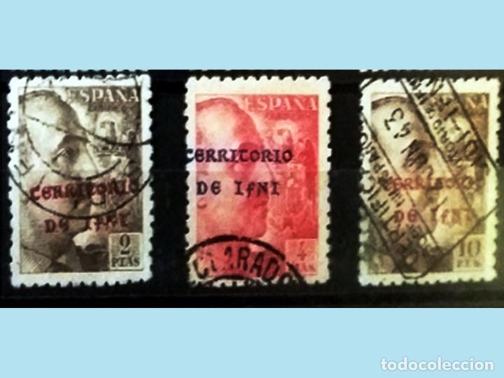 Sellos: 1941-42 SERIE DE CIFRAS,CID y GRAL.FRANCO MATASELLADA Y CON SOBRECARGA-TERRITORIO DE IFNI-Cat.1320 € - Foto 2 - 166687902