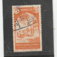 Sellos: MARRUECOS E. 1939 - EDIFIL NRO. 196. - USADO - DOBLEZ. Lote 166714250