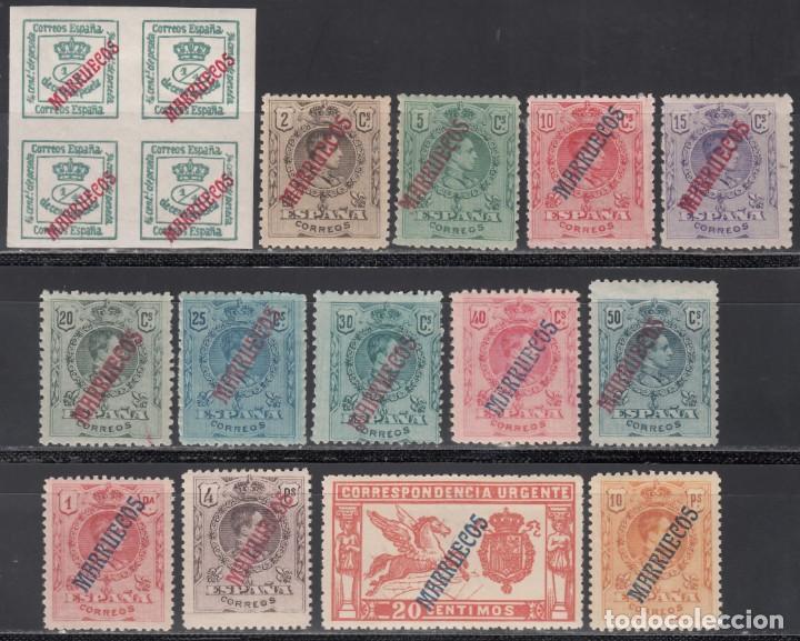 MARRUECOS, 1914 EDIFIL Nº 29 / 42 /**/ (Sellos - España - Colonias Españolas y Dependencias - África - Marruecos)