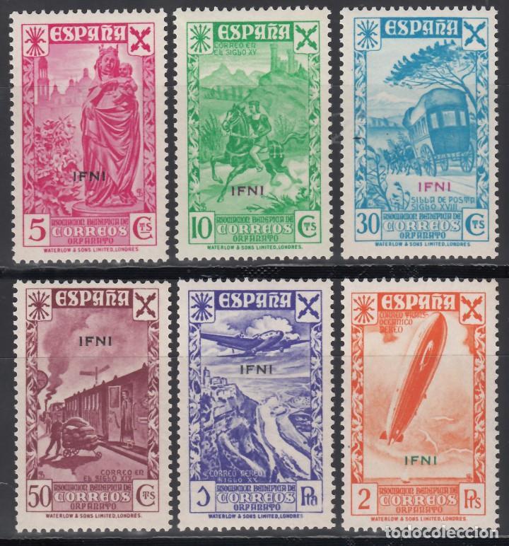 IFNI, BENEFICENCIA. 1939 EDIFIL Nº 1 / 6 /**/, SIN FIJASELLOS. (Sellos - España - Colonias Españolas y Dependencias - África - Ifni)
