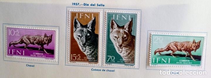 SERIE COMPLETA 4 SELLOS IFNI 1957 DÍA DEL SELLO Nº 138/139/140/141 (Sellos - España - Colonias Españolas y Dependencias - África - Ifni)