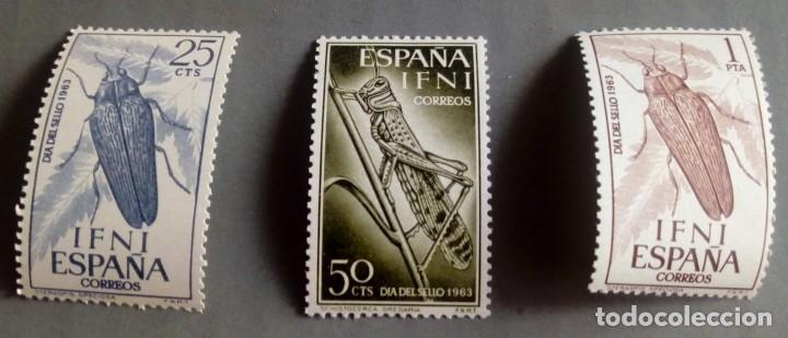 SERIE COMPLETA 3 SELLOS IFNI 1964 DÍA DEL SELLO Nº 200/201/202 (Sellos - España - Colonias Españolas y Dependencias - África - Ifni)
