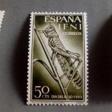 Sellos: SERIE COMPLETA 3 SELLOS IFNI 1964 DÍA DEL SELLO Nº 200/201/202. Lote 168328028