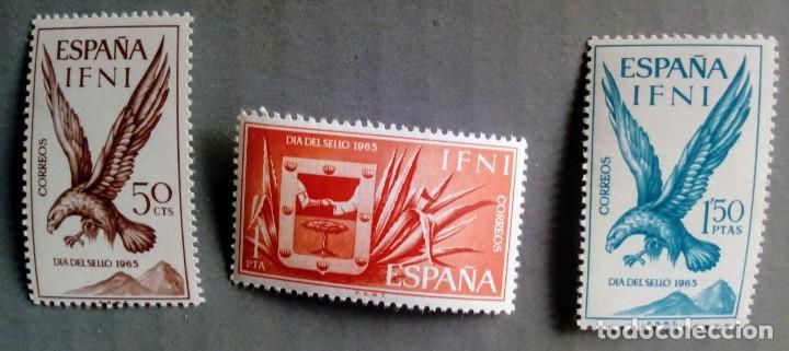 SERIE COMPLETA 3 SELLOS IFNI 1965 DÍA DEL SELLO Nº 215/216/217 (Sellos - España - Colonias Españolas y Dependencias - África - Ifni)