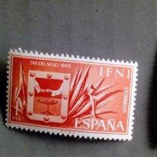 Sellos: SERIE COMPLETA 3 SELLOS IFNI 1965 DÍA DEL SELLO Nº 215/216/217. Lote 226366840
