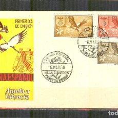 Sellos: SPD 146/48 SOBRE PRIMER DIA (SFC) SAHARA AYUDA VALENCIA CIGUEÑA 1958 BUEN ESTADO. Lote 168696344