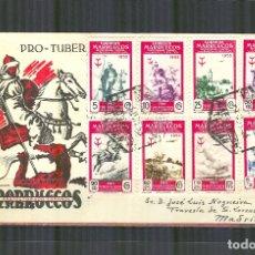 Sellos: SPD 374/81 SOBRE PRIMER DIA CERTICADO (SFC) MARRUECOS PRO TUBERCULOSOS 1953 CIRCULADO. Lote 168737900