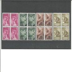 Sellos: SAHARA- 176/179 DIA DEL SELLO-FAUNA - BLOQUE DE CUATRO NUEVOS SIN FIJASELLOS(SEGÚN FOTO). Lote 168823600