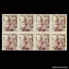 Sellos: SELOS.GUINEA 1943.SELLOS ESPAÑA HABILITADO.2P.BLOQUE 8.NUEVO** EDIFIL 271 SCOTT 301. Lote 168905588