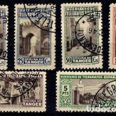 Sellos: 1946 TÁNGER HÚERFANOS DE TELÉGRAFOS Nº 41/46 EN USADO . Lote 169462208