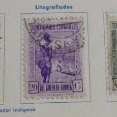 Sellos: SERIE LITOGRAFÍAS SELLOS GUINEA 1934 – 1941 (TIPOS DE 1931) DE 5 – 20 Y 40 CTS.. Lote 169726444