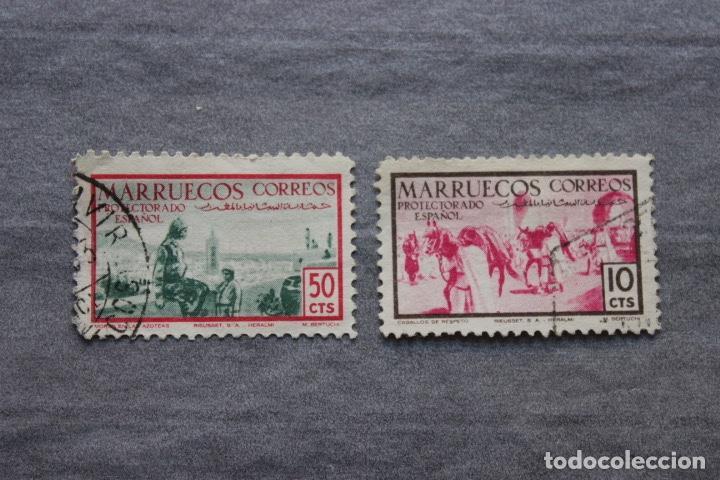 LOTE 2 SELLOS PROTECTORADO ESPAÑOL EN MARRUECOS (Sellos - España - Colonias Españolas y Dependencias - África - Marruecos)