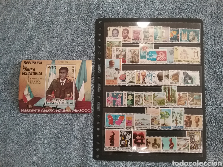 COLECCIÓN SELLOS GUINEA ECUATORIAL 1981 A 1984 NUEVOS (Sellos - España - Colonias Españolas y Dependencias - África - Guinea)