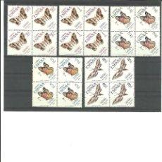 Sellos: SAHARA- 283/87 DIA DEL SELLO-MARIPOSAS- BLOQUE DE CUATRO NUEVOS SIN FIJASELLOS(SEGÚN FOTO). Lote 170062616