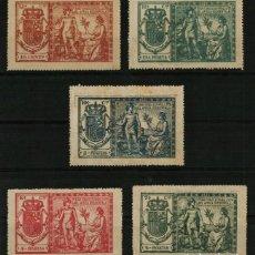 Sellos: PÓLIZAS FISCALES DE 1911 DE TERRITORIOS ESPAÑOLES DEL ÁFRICA OCCIDENTAL (5 VALORES). Lote 170147938
