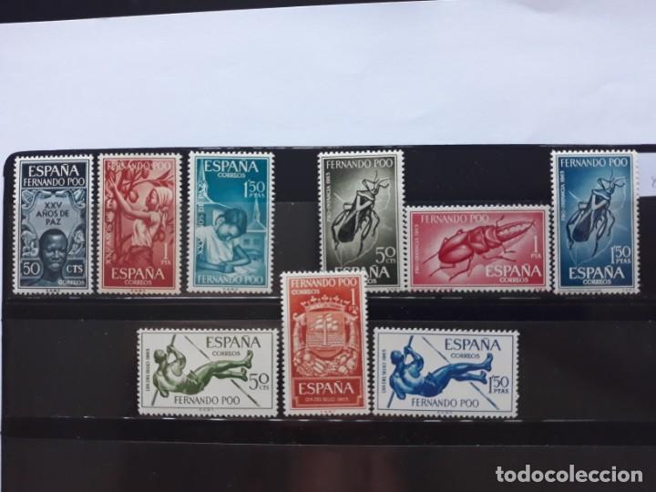 SELLOS FERNANDO POO AÑO 1965 . EN NUEVO SIN FIJASELLOS (Sellos - España - Colonias Españolas y Dependencias - África - Fernando Poo)