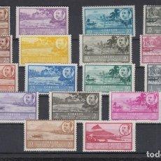 Sellos: GUINEA. EDIFIL 277/293 ** PAISAJES Y EFIGIE DEL GENERAL FRANCO.. Lote 170967367