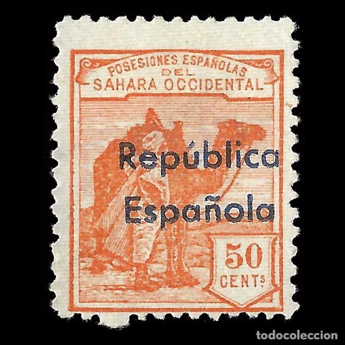 SAHARA 1932.HABILITADOS.HORIZONTAL.50C. NUEVO(*) EDIFIL.43 B.ENVÍOS COMBINADOS (Sellos - España - Colonias Españolas y Dependencias - África - Sahara)