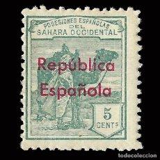 Selos: SELLOS ESPAÑA.SAHARA 1932.HABILITADOS. HORIZONTAL. 5C. NUEVO*. EDIFIL.36 B. Lote 171181359