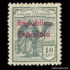 Selos: SELLOS ESPAÑA.SAHARA 1931-35.HABILITADOS.HORIZONTAL 10C.NUEVO*. EDIFIL.37 B. Lote 171181869