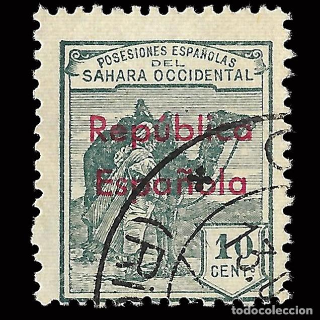SELLOS ESPAÑA.SAHARA 1932.HABILITADOS.HORIZONTAL 10C.USADO. EDIFIL.37 B (Sellos - España - Colonias Españolas y Dependencias - África - Sahara)