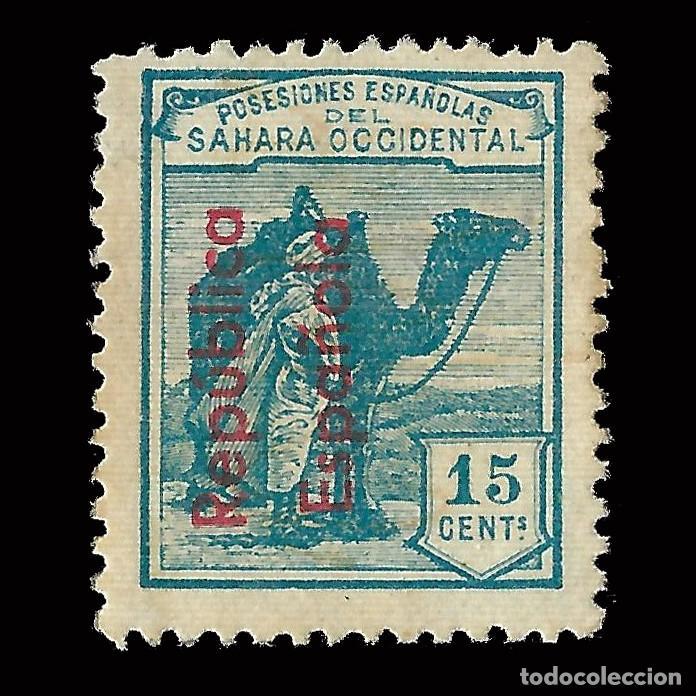 SELLOS ESPAÑA.SAHARA 1931-35.HABILITADOS..15C.VERDE AZUL.NUEVO*. EDIFIL.38 (Sellos - España - Colonias Españolas y Dependencias - África - Sahara)
