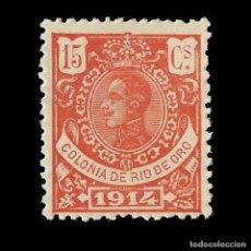 Selos: SELLOS ESPAÑA. RÍO DE ORO. 1914 ALFONSO XIII. 15C. BERMELLÓN .NUEVO*. EDIFIL Nº 82.Nº000,000. Lote 171777182