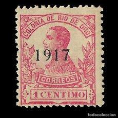 Sellos: SELLOS ESPAÑA. RÍO DE ORO. 1917 ALFONSO XIII.HABILITADO.1C. ROSA.NUEVO** EDIFIL 91. Lote 171777473