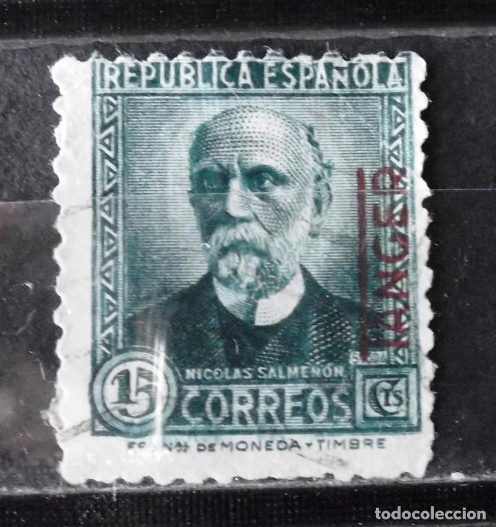 TÁNGER, EDIFIL 665 SOBRECARGADO; EMISIÓN LOCAL PATRIÓTICA. (Sellos - España - Colonias Españolas y Dependencias - África - Tanger)