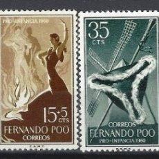 Sellos: FERNANDO POO 1960 - MANUEL DE FALLA, S.COMPLETA - SELLOS NUEVOS **. Lote 173896134