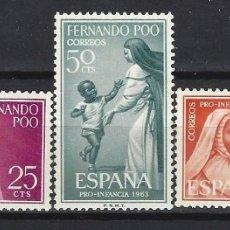 Sellos: FERNANDO POO 1963 - RELIGIOSAS, S.COMPLETA - SELLOS NUEVOS **. Lote 173896688