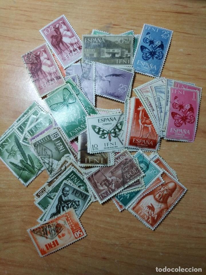 Sellos: LOTE 144 SELLOS DE IFNI, NUEVOS Y USADOS - Foto 3 - 175580929
