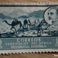 Sellos: TERRITORIOS DEL AFRICA OCCIDENTAL ESPAÑOLA. SELLO 10 CENTS. CORREO-AEREO F. NUÑES . FRANQUEADO. 1950. Lote 176199338