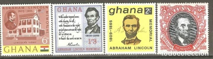 GHANA,4 VALORES, NUEVOS,G.ORIGINAL,SIN FIJASELLOS,1965,CAT. YT 197/200 (Sellos - España - Colonias Españolas y Dependencias - África - Otros)