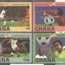 Sellos: GHANA,1983,CAT.YT. 968 A 971, NUEVOS, GOMA ORIGINAL, SIN FIJASELLOS.. Lote 176391890