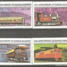 Sellos: GHANA,1983,CAT.YT. 638 A 641, NUEVOS, GOMA ORIGINAL, SIN FIJASELLOS.. Lote 176391919