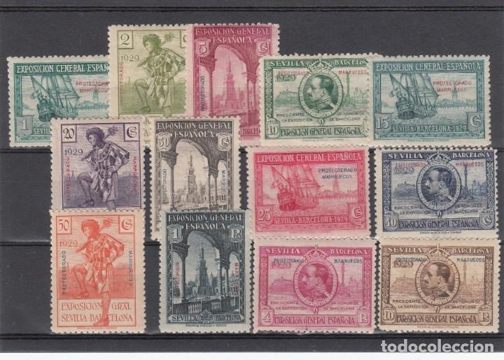 MARRUECOS NUMS 119 A 131 NUEVOS CON FIJASELLOS (Sellos - España - Colonias Españolas y Dependencias - África - Marruecos)