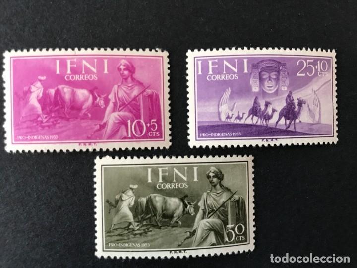 IFNI 1955 EDIFIL 122/4** MNH (Sellos - España - Colonias Españolas y Dependencias - África - Ifni)